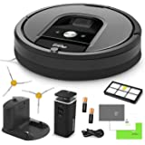 iRobot Roomba 960 Robotic Vacuum Cleaner Bundle with Accessories (6 Items)