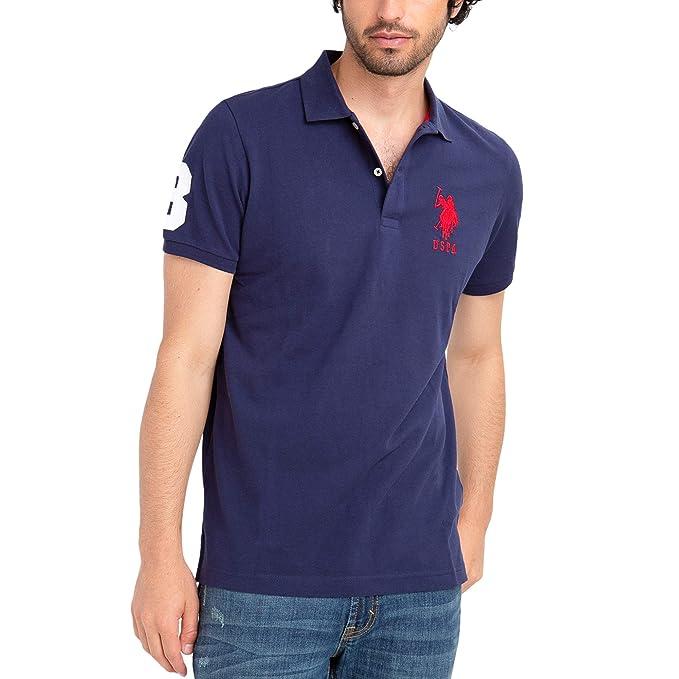 U.S. Polo Assn. Polo de piqué para Hombre con Logo Grande clásico ...