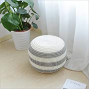 New Style Can Be Disassemble To Wash Knitted Woolen Round Cushion POUF (Gray)