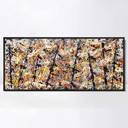 INVIN ART Framed Canvas Giclee Print Art Blue poles Number 11
