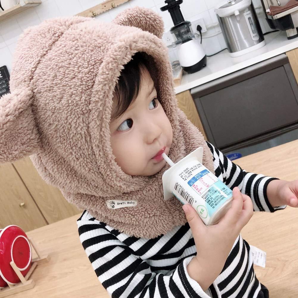 Boomly Baby Winterm/ütze Nackenw/ärmer Ohrenklappen Warm Kapuzen Schal Beanies H/üte Nettes Ohr Pl/üsch Verdicken Absicherungskappe Anzug f/ür 1-6 Jahre alt