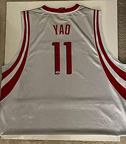 cheaper 0a6bb 4a7a5 Yao Ming Autographed Signed Adidas Houston Rockets Jersey ...