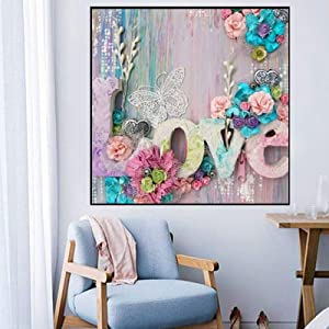 5D DIY Drill Rhinestone Diamond Painting Kits,Creative Valentine's Day Home Decor,Cross Stitch 5D,Art Craft Night View Painting with Crystal Beads Suitable for Beginners, Kids and Adults Gift