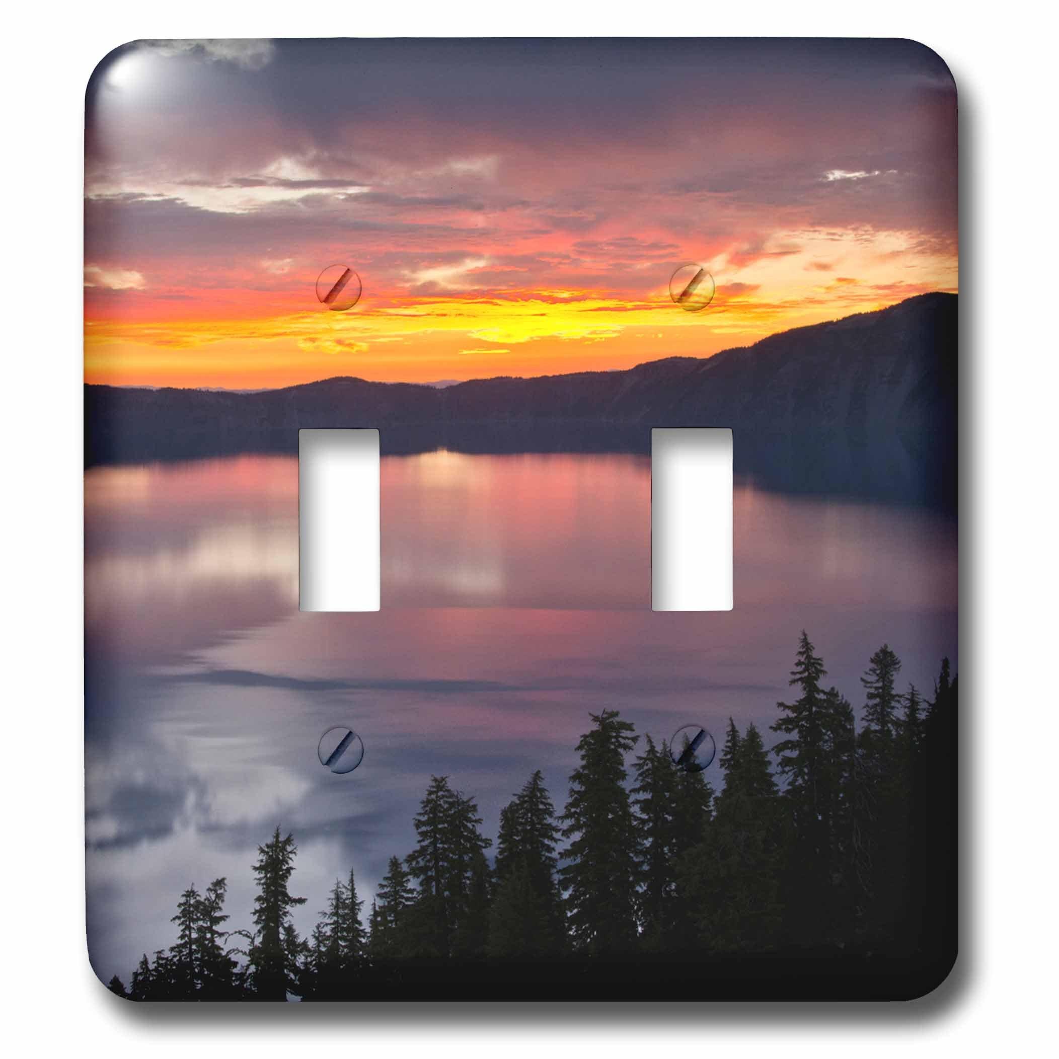 3dRose LSP_231489_2 Crater Lake at Sunrise, Oregon, USA Toggle Switch, Mixed
