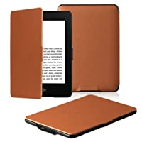 Amazon Kindle Paperwhite Case Lightest and Thinnest Premium Leather Smart Protective Cover for Kindle Paperwhite with Auto Wake/Sleep Function (Brown)