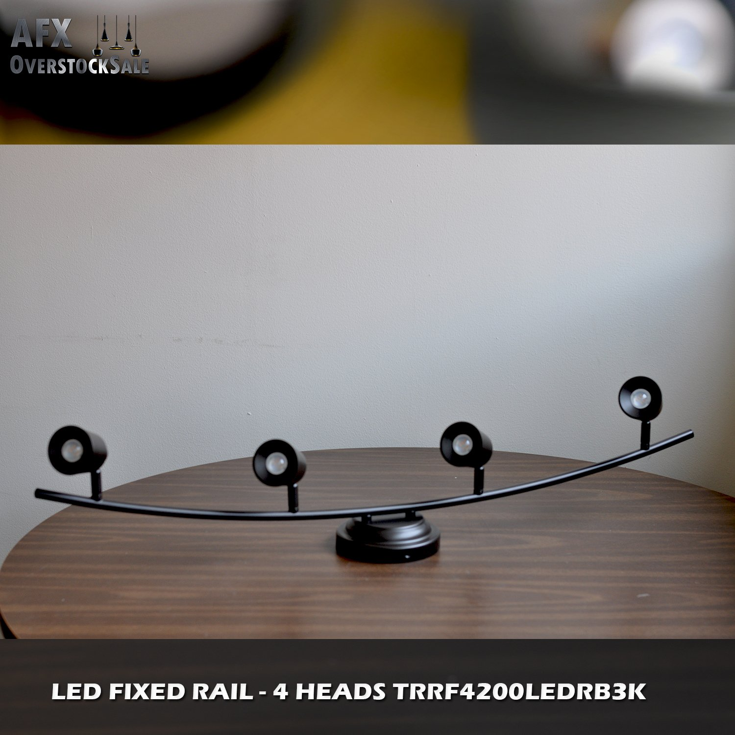 AFX Lighting TRRF4200LEDRB3K Frosted Acrylic LED Fixed Track Light Fixture, Oil Rubbed Bronze by Lighting by AFX