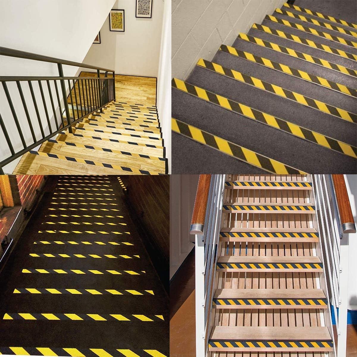 B/öden Sicherheitsband gelb schwarz Anti-Rutsch-Sicherheitsklebeband Klebeband Klebeband f/ür Treppen 5 cm x 5 m W/ände oder Innenbereich Hohe Zugkraft Warnband