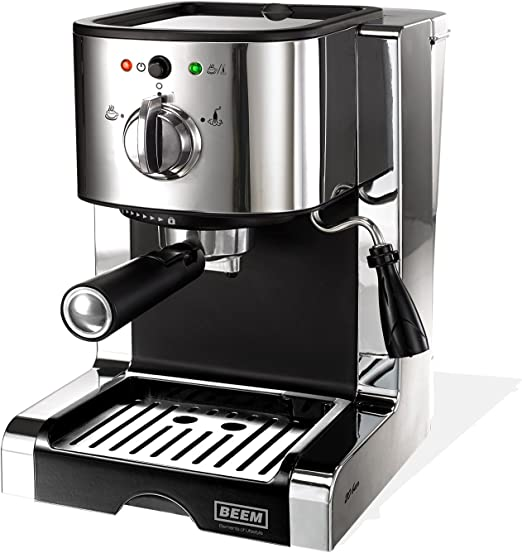 Beem - Máquina de espresso (con 20 bar), color plateado: Amazon.es ...