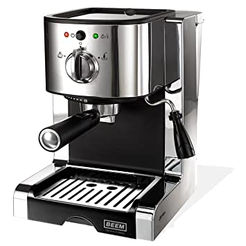 Beem - Máquina de espresso (con 20 bar), color plateado: Amazon.es: Hogar