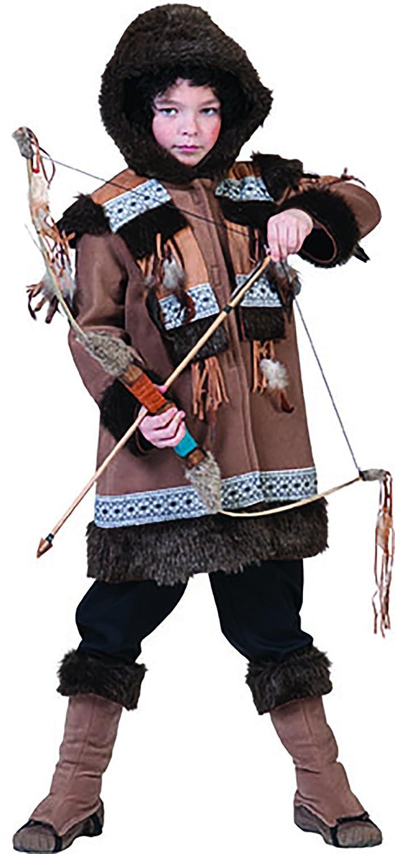 halloweenia - Indios Esquimal Camino de bosque Disfraz Para Niños, 116 - 170, 6 - 15 Años, color marrón: Amazon.es: Juguetes y juegos