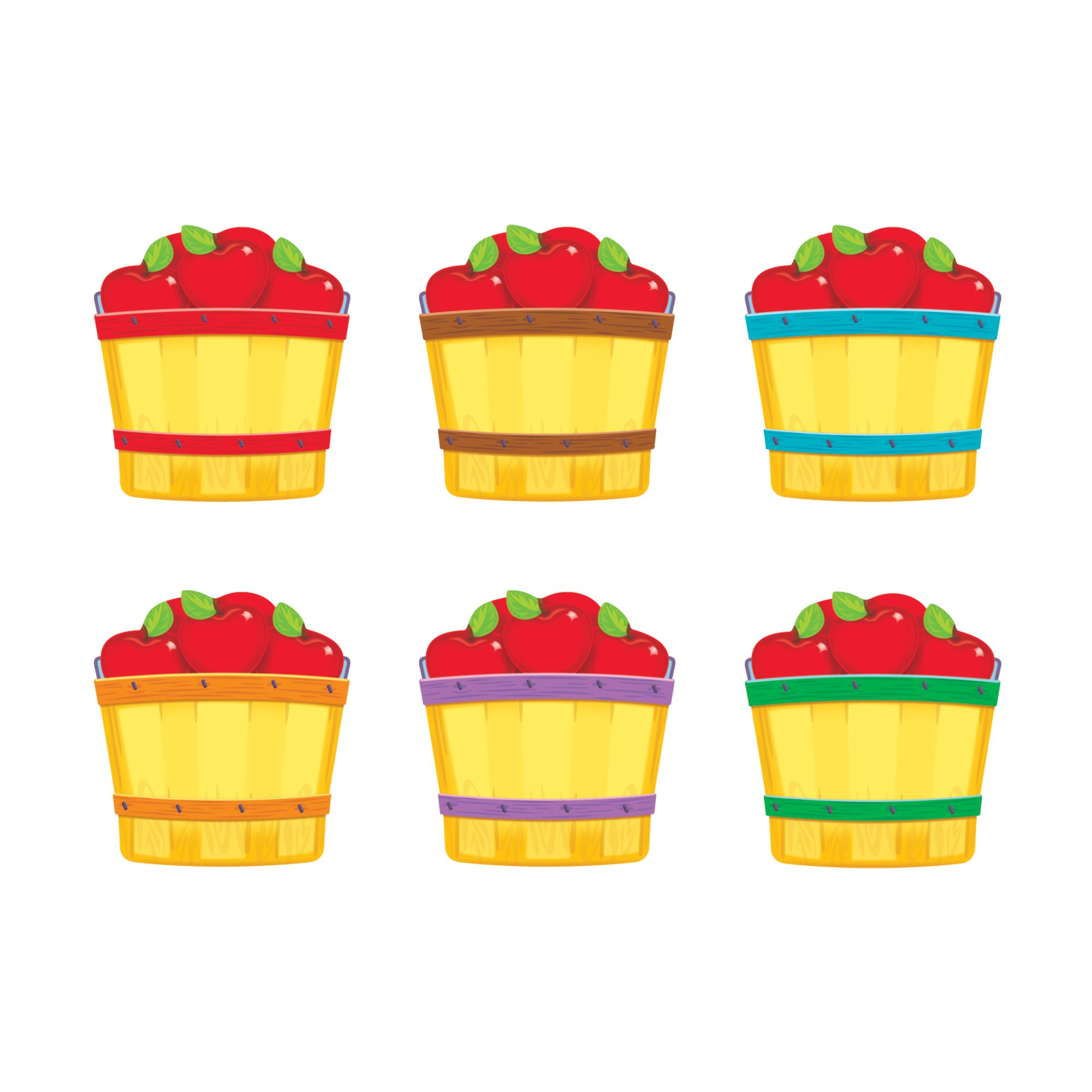 TREND enterprises, Inc. T-10855BN Apple Baskets Mini Accents Variety Pack, 36 Per Pack, 6 Packs by TREND Enterprises