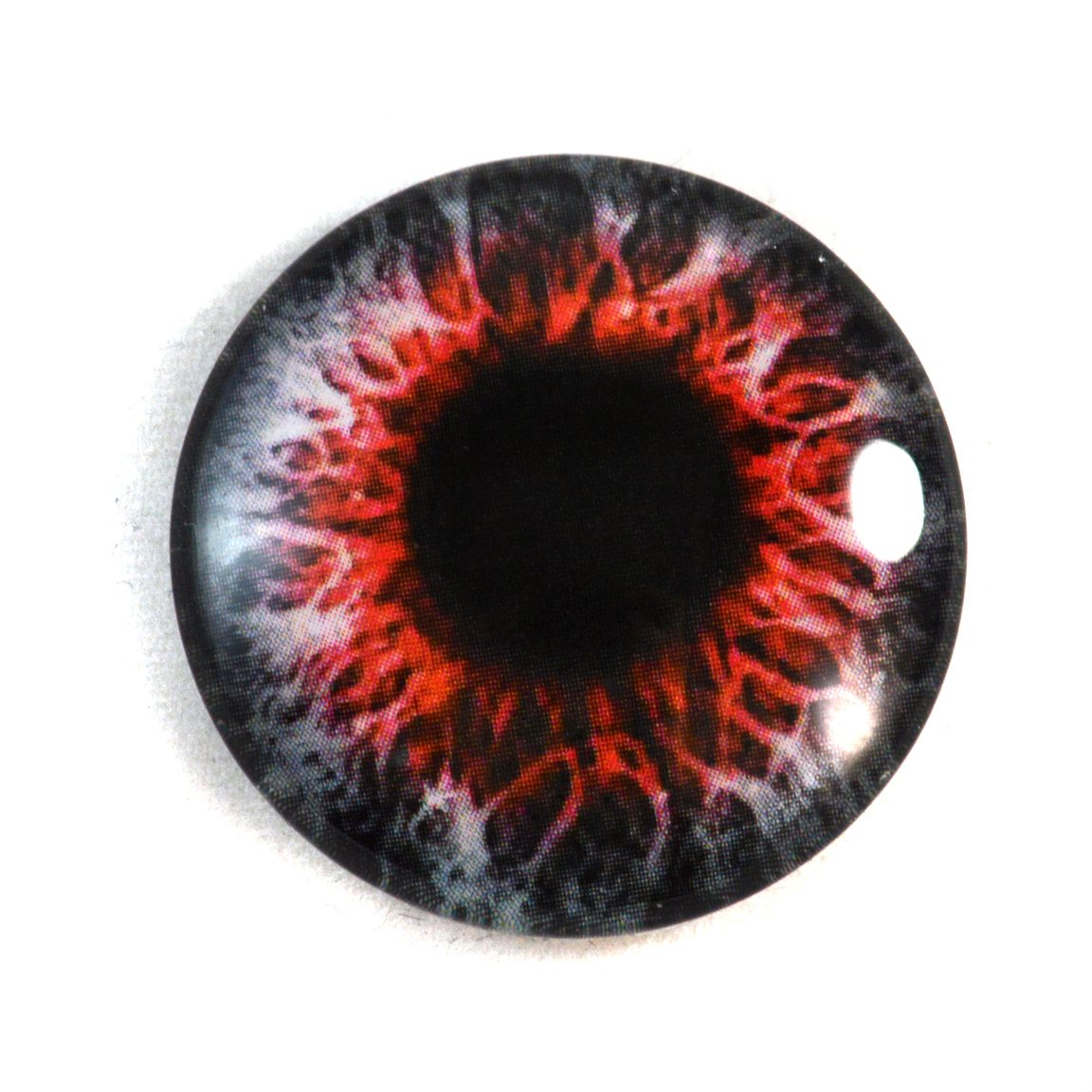 30mm Red Demon Glass Eye for Taxidermy Sculptures or Jewelry Making Pendant Crafts