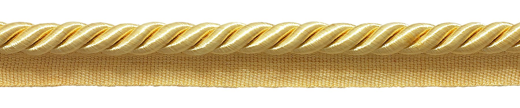 DecoPro Large Light Gold 3/8'' Basic Trim Cord with Sewing Lip, Package of 32.8 Yards (30 Meters), Style# 0038S Color: B7 by DÉCOPRO