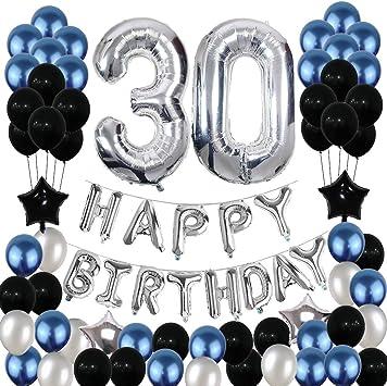 Amazon.com: Yoart - Globos decorativos para 30 cumpleaños ...