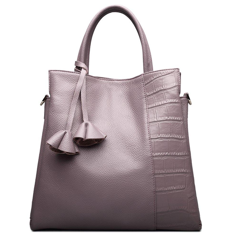 e66179487b3a Amazon.com: ZOOLER GLOBAL Womens Leather Cowhide Handbag Top Handle ...