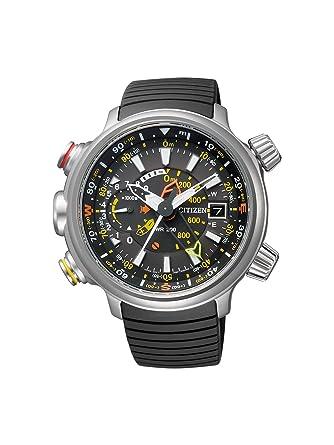 Citizen Promaster Land - Altichron - Reloj de Cuarzo para Hombre, con Correa de Goma, Color Negro: Amazon.es: Relojes
