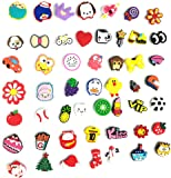 PUTING 51pcs Different Cute Shoes Charms for Croc Shoes and Bracelets Wristband Party Gifts