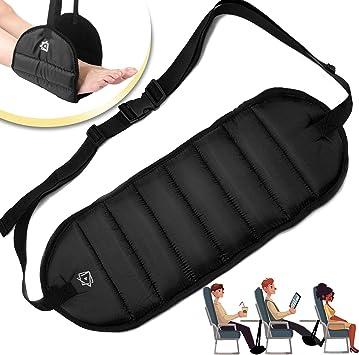Airplane Portable Leg Rest Travel Footrest Hammock Carry Flight Foot Pillow Pad