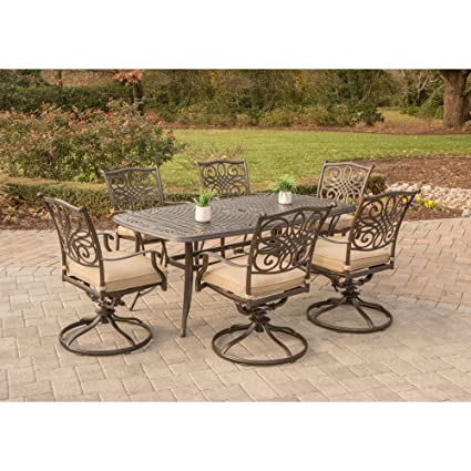 Amazon Com Hanover Traditions7pcsw 6 Traditions 7 Piece Dining Set