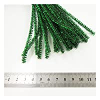 Beads4crafts Tinsel Pipe Cleaners x 20 Crafts 30Cm Chenille Stems Assorted Arts Children Fun (Green - Cpc402)