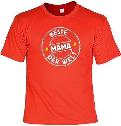 T-Shirt mit Urkunde - Beste Mama der Welt - lustiges Sprüche Shirt als  Geschenk