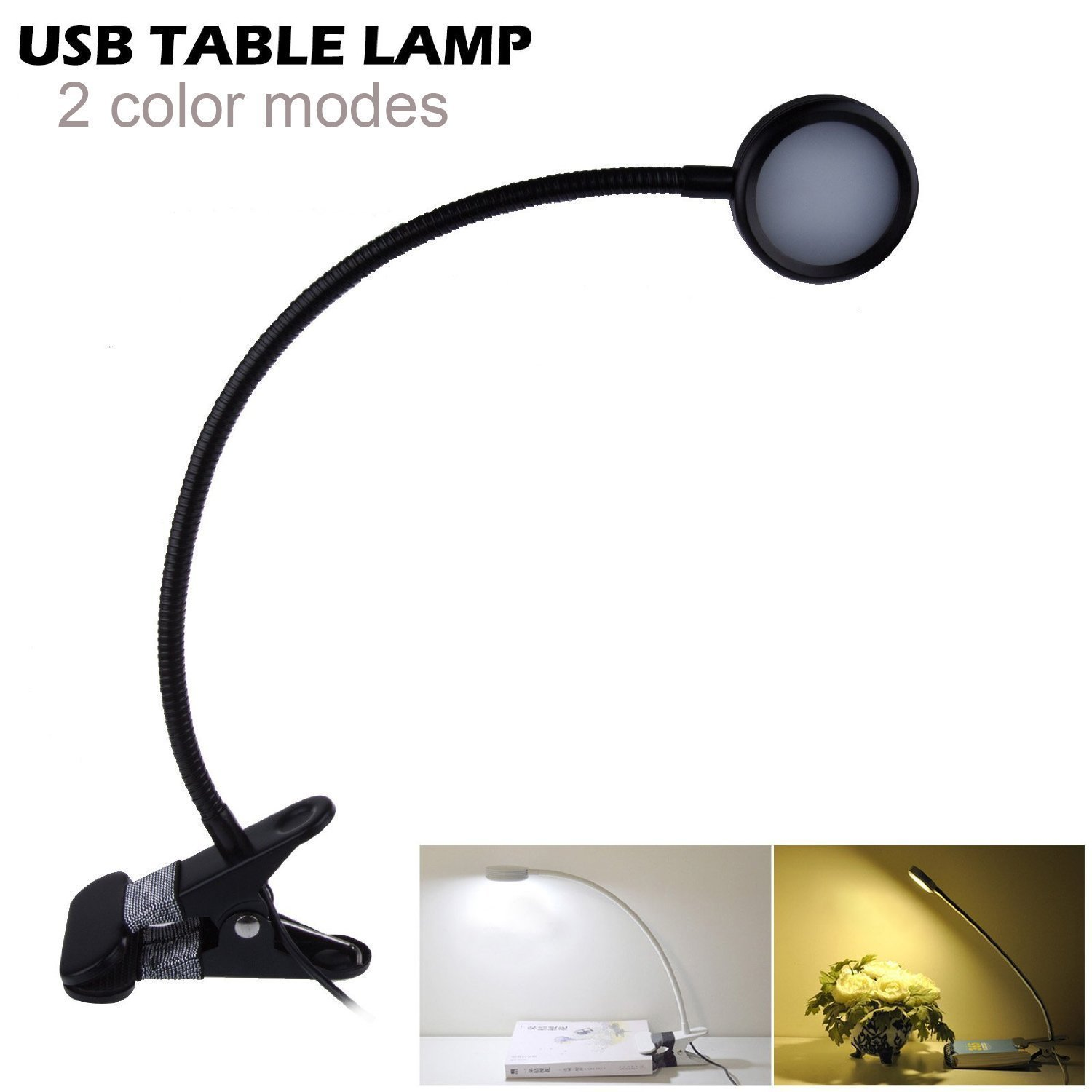 lemonbest eye protection 5050 smd desk lamp flexible neck clip on