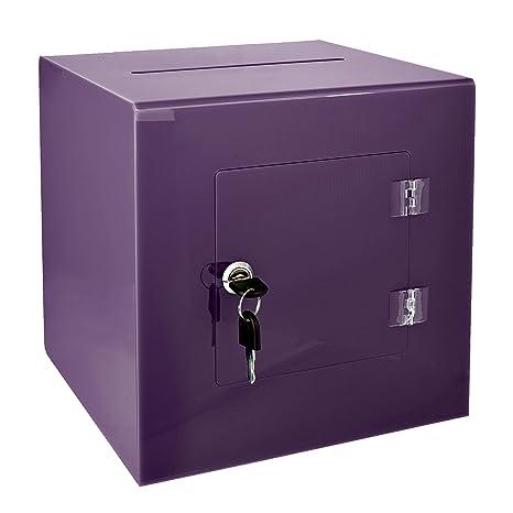 Amazon.com: AdirOffice - Caja para donaciones de acrílico ...