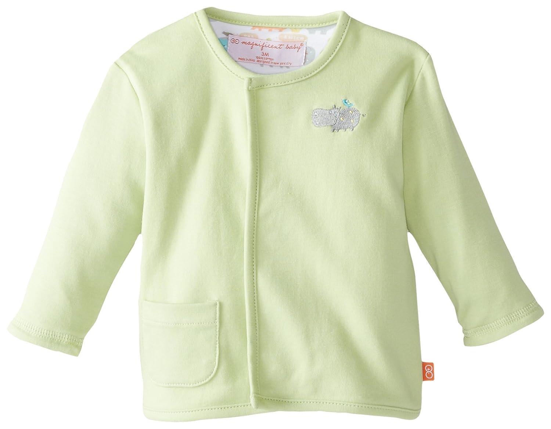 Magnificent Baby Baby-Boys Unisex-Baby Newborn Hippo Unisex Reversible Cardigan 2227