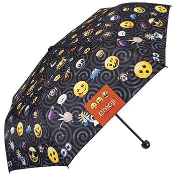 Paraguas Plegable, con Estampado de Emoji, la icónica Marca de emoticones Oficiales de Whatsapp