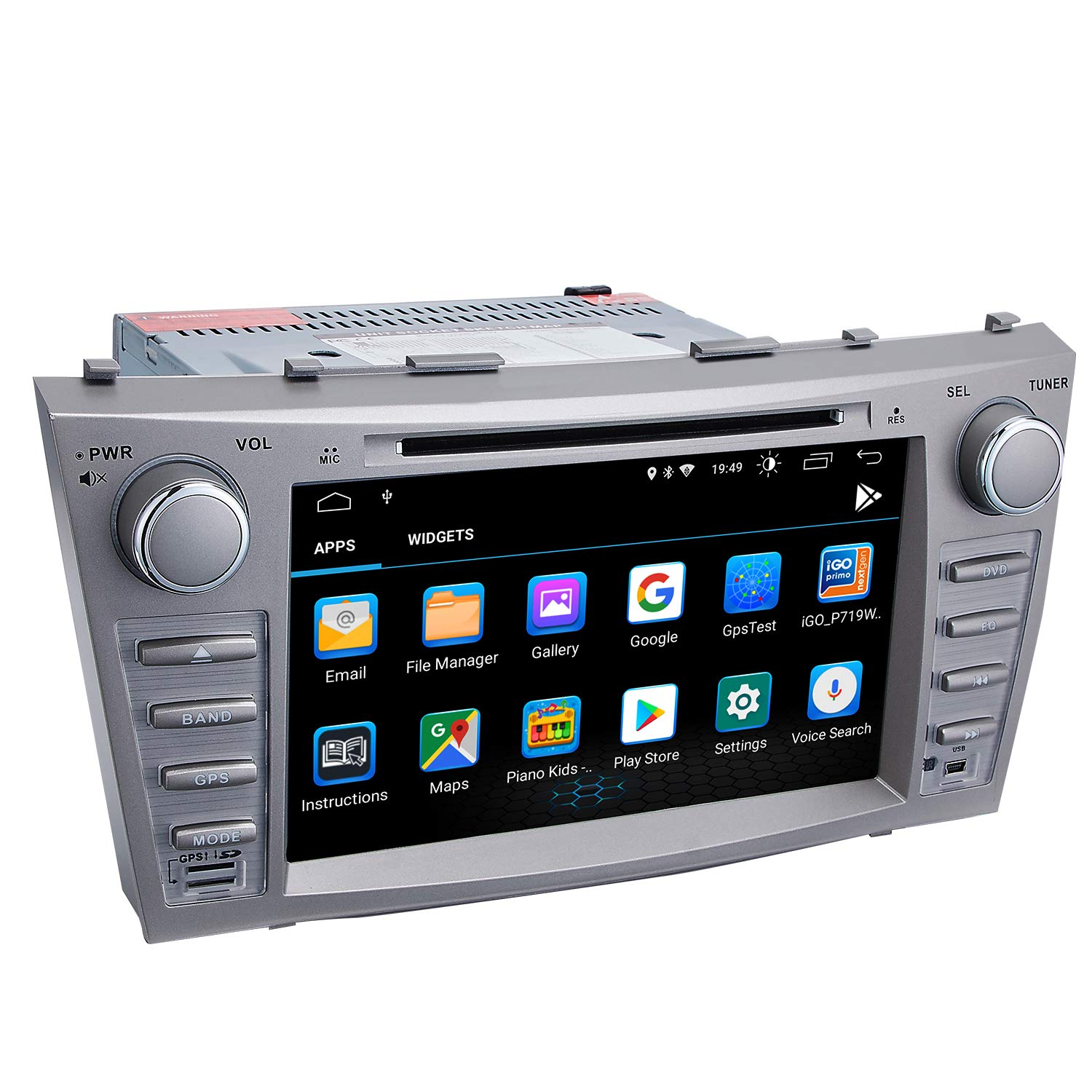 Camry Car Stereo DVD Player-Double Din in-Dash, Multimedia Receiver with Touchscreen, Built-in Bluetooth, MP3 Player, GPS Navigation, SD, AUX Input, Radio Receiver (Android 9.0) by Dagiton