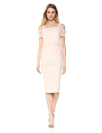 be4b9b6065f RACHEL Rachel Roy Women's Cold Shoulder Floral Lace Midi Dress at Amazon  Women's Clothing store: