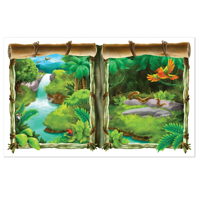 Amazon Com Pack Of 6 Jungle Insta View Lush Tropical Jungle Theme