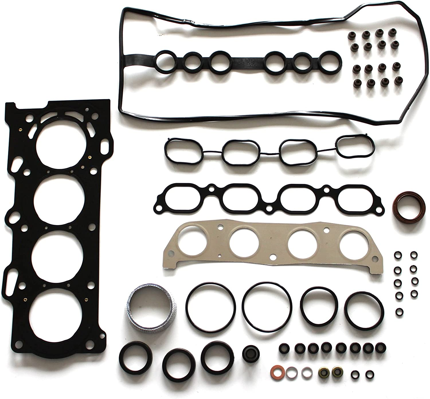 SCITOO Timing Chain Kit Head Gasket Set Replacement for Toyota MR2 Spyder 2-Door Convertible 1.8L Base