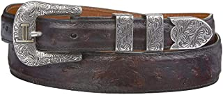 product image for Lucchese Men's Cherry Full Quill Ostrich Leather Belt - W6022