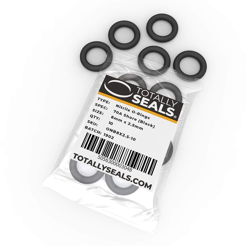 O-Ringe aus Nitrilkautschuk verschiedene Packungsgr/ö/ßen 8 mm x 2,5 mm 70A Shore H/ärte 13 mm Au/ßendurchmesser