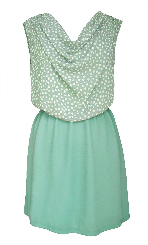 Darimeya dot Dress Vintage style teal Turquoise