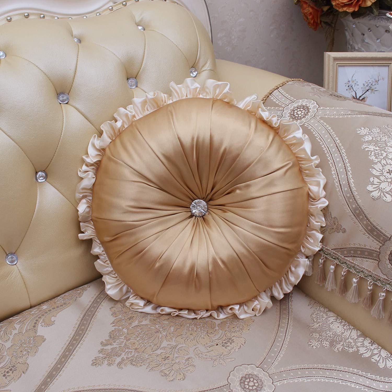 Amazon.com: Cojines europeos de tela de satén de lujo con ...