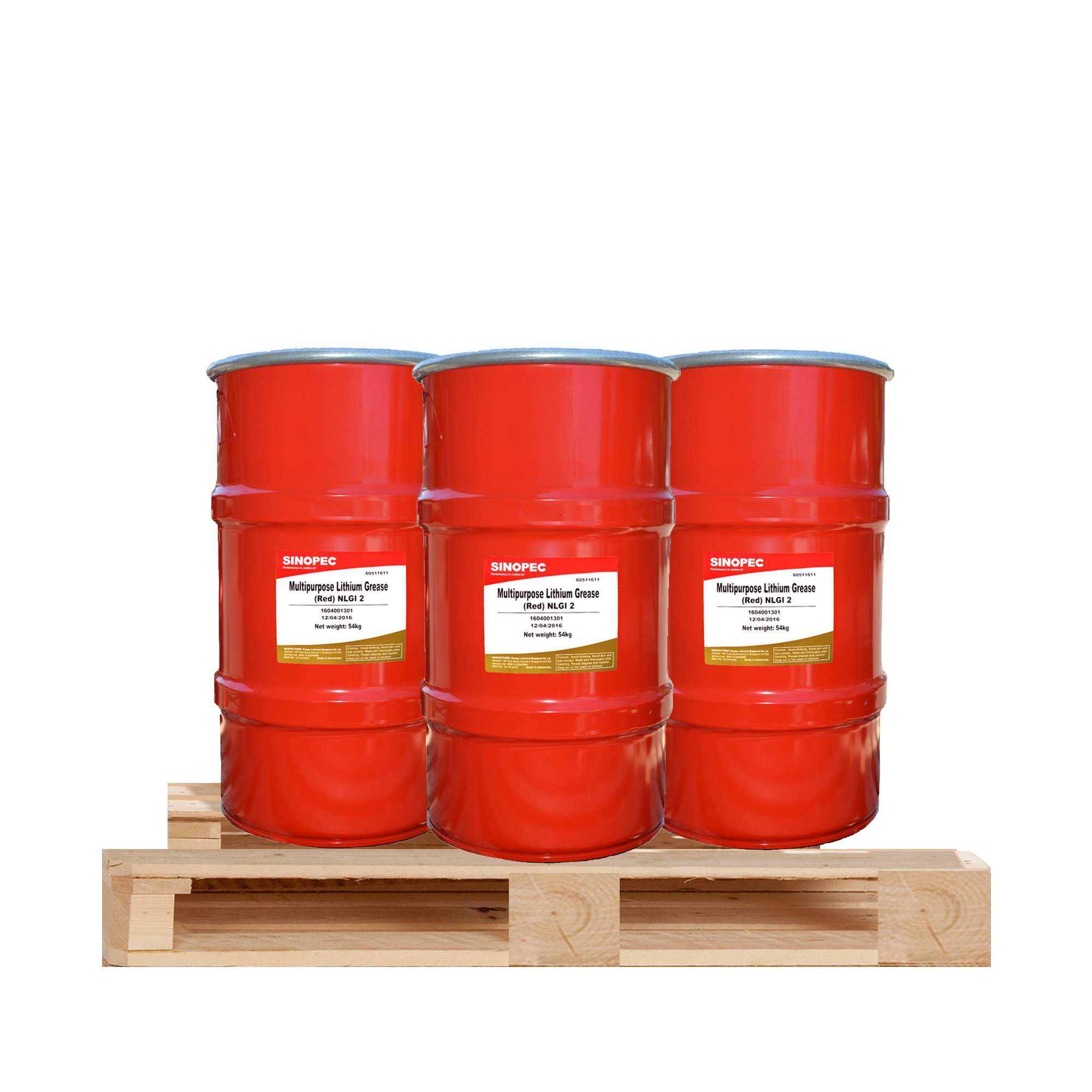 $235 Each - (3) Kegs of Red Multipurpose Lithium Grease #2 - 120LB. (16 Gallon) Keg by Sinopec