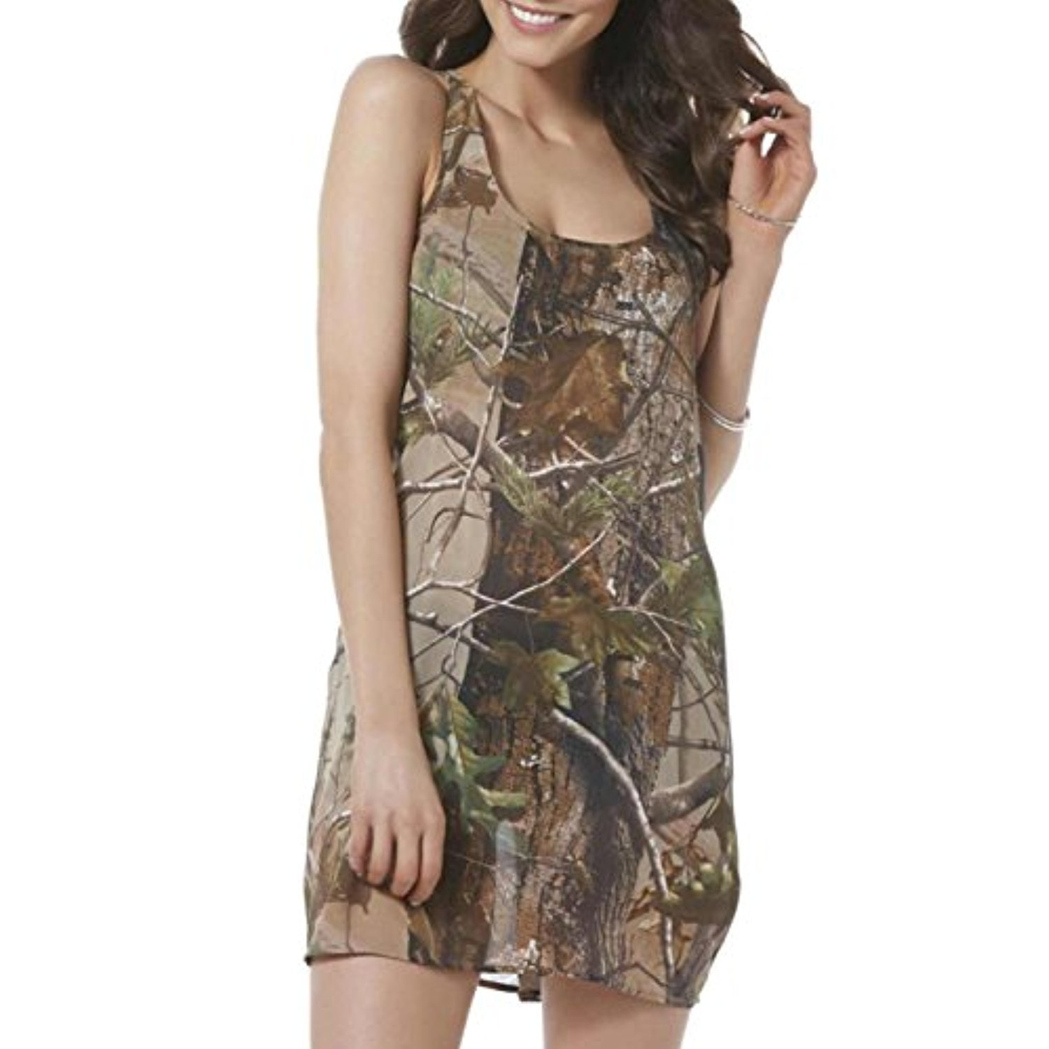 c016673a05ed Realtree Womens Green Semi-Sheer Camo Swim Suit Cover Up Camouflage ...