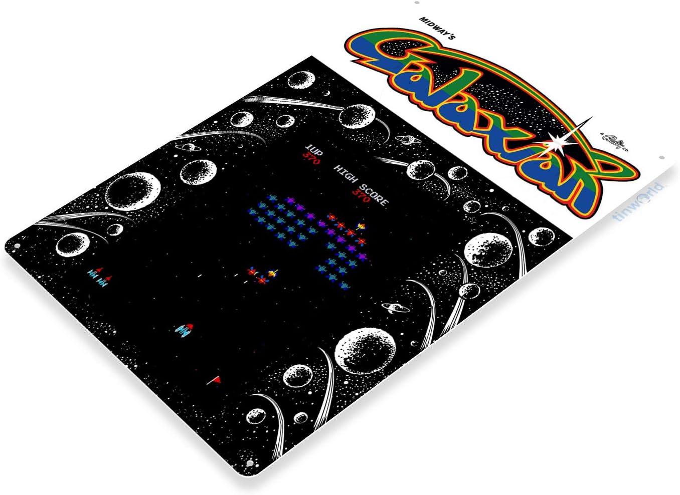 TIN SIGN Galaxian Arcade Shop Game Room Art Marquee Console Metal Décor A836