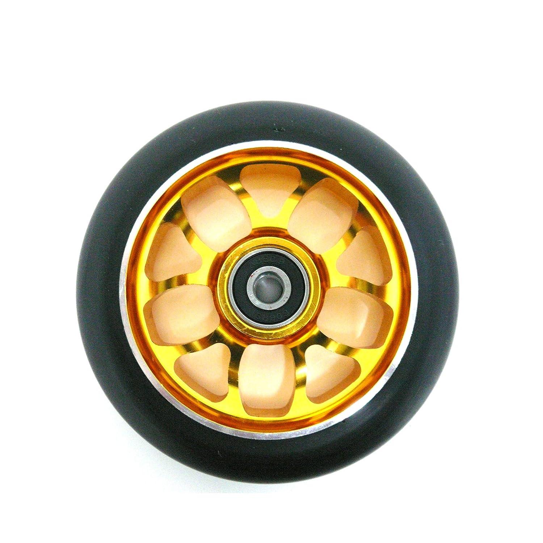 Ten Eighty 5Y habló 100 mm patinete rueda - oro/negro ...