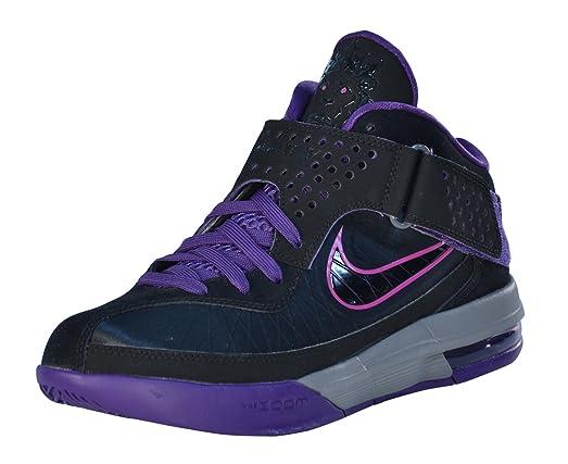 Nike Men's Lebron Air Max Soldier V Basketball Shoes-Black/Purple-11