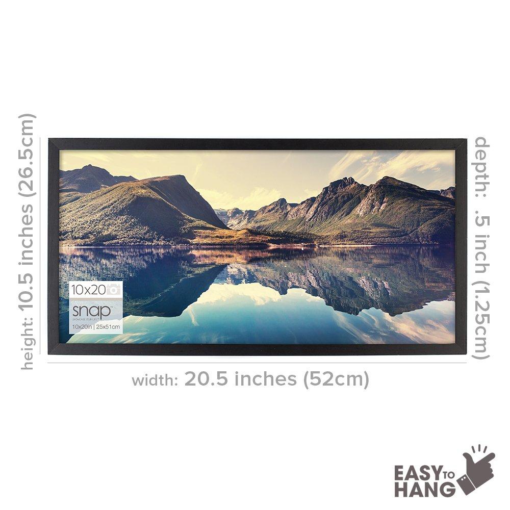 Snap 8 5x14 Black Wood Wall Photo Frame Nbg Home 10fw1568