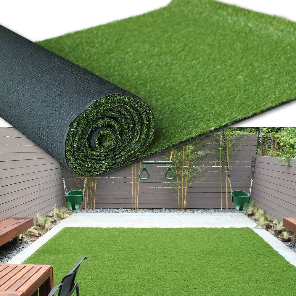Premium Synthetic Artificial Grass Turf 1.38inch Pile Height 3FTX10FT, High Density Fake Faux Grass Turf, Natural and Realistic Looking Garden Pet Dog Lawn