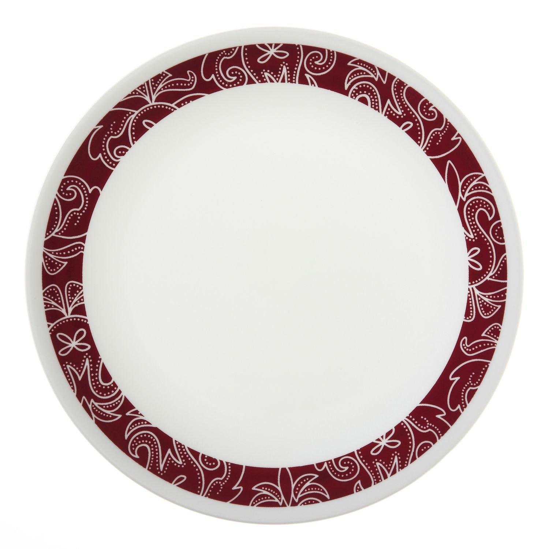 "Corelle Livingware Bandhani 8-1/2"" Luncheon Plate (Set of 12) WORLD KITCHEN 1103063"