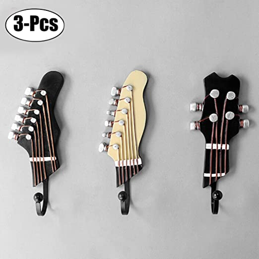 JUSTDOLIFE 3PCS Pared Hook Decoración Hook Guitarra Forma Gancho ...