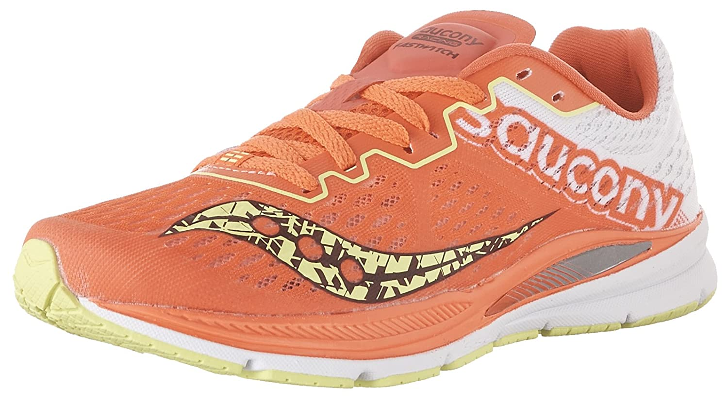 Saucony Women's Fastwitch 8 Cross Country Running Shoe B01GJZKPF4 5.5 B(M) US|Coral | Citron