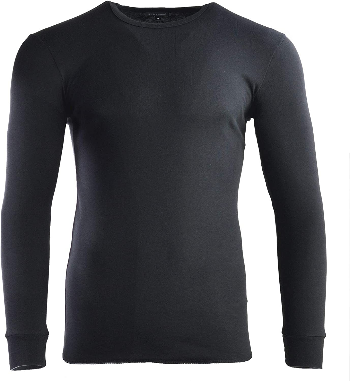 240 gsm Men/'s 100/% Pure Cotton Heavy Weight Soft Long Sleeve T-Shirt
