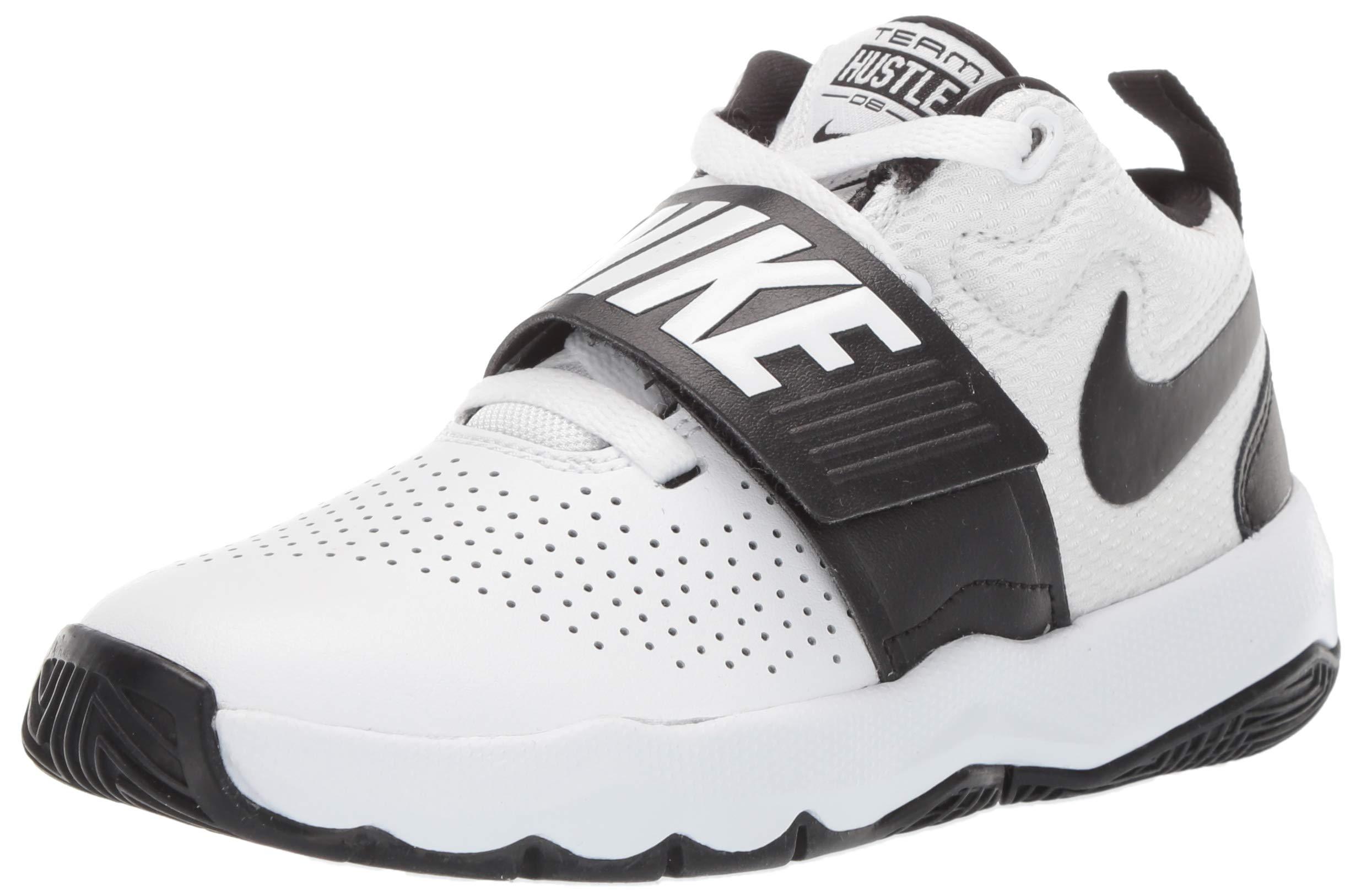 bb4ad93925534 Galleon - Nike Kids' Preschool Team Hustle D 8 Basketball Shoes (13K,  Black/Volt-M)
