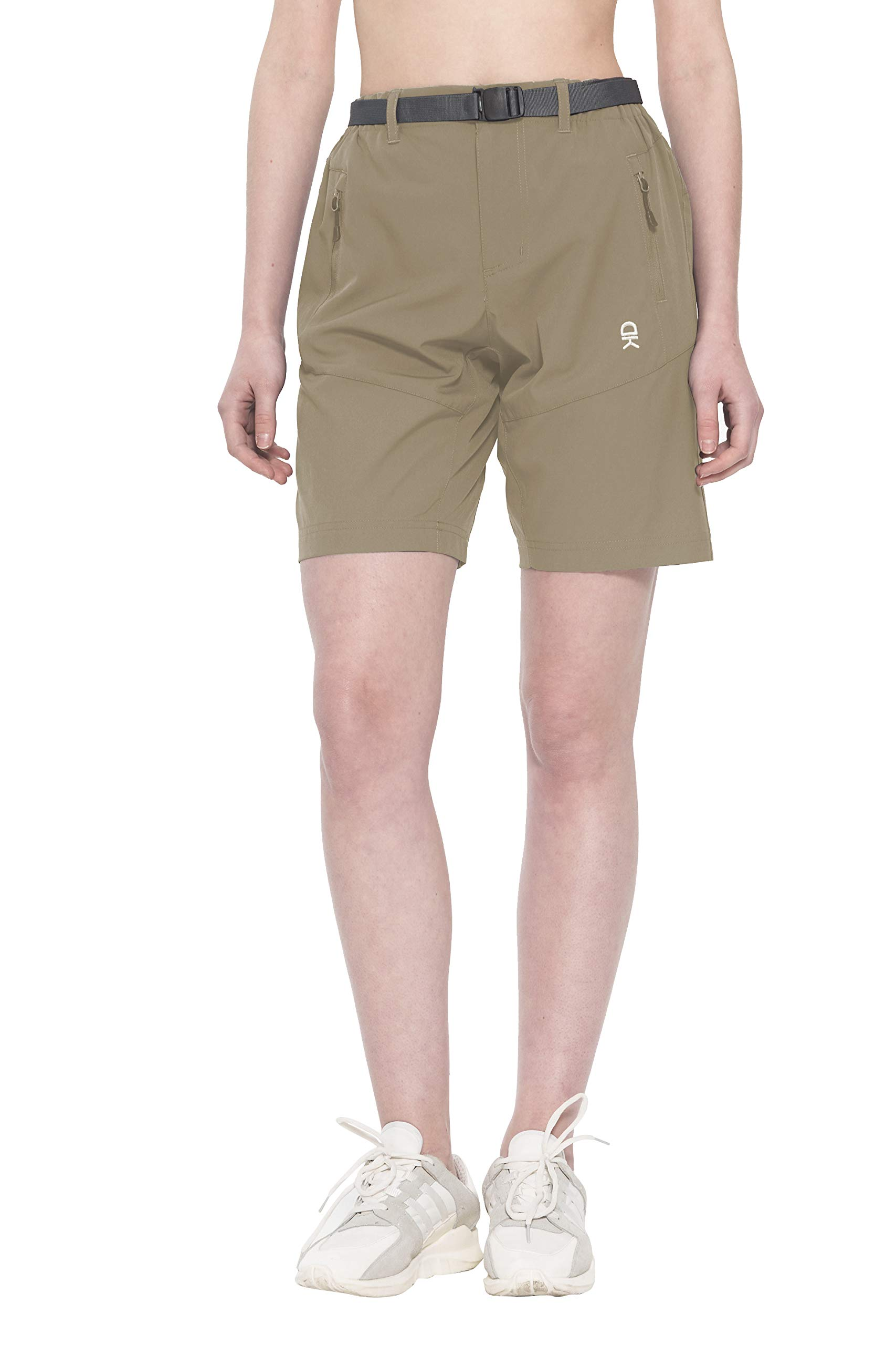 Little Donkey Andy Women's Stretch Quick Dry Cargo Shorts for Hiking, Camping, Travel Black Size S
